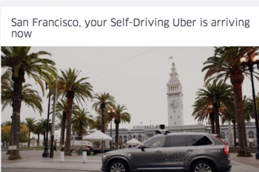 UberがSFで自動運転車の配車を開始したが