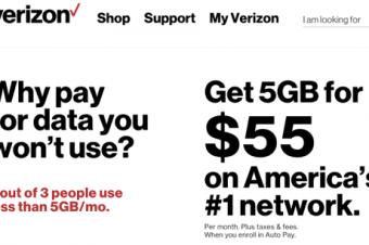 VerizonとSprintが小さな料金競争