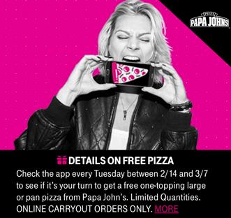 T-Mobileの火曜日のピザプレゼントが復活