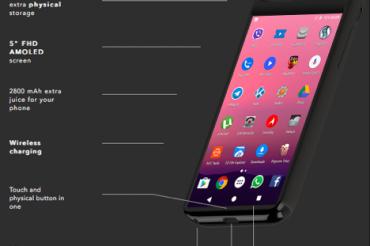 Androidスマホを兼ねたiPhoneケース