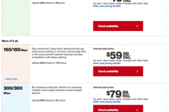 Verizonがギガビット競争に参入