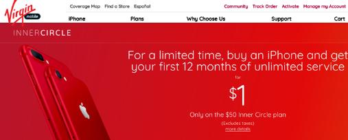 Virgin MobileはiPhoneしか売らない