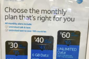AT&Tのプリペイドの変更はすっきりしない