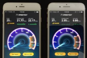 VerizonはT-Mobileより遅かった