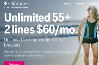 T-Mobileがシニア向けプランを発表