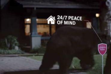 ホームセキュリティのCMで熊が活躍