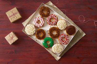 ドーナツもクリスマスモード