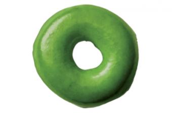 ドーナツがまた緑になった