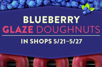 ドーナツが青くなった