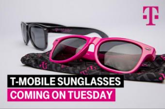 T-Mobileがサングラスを配る