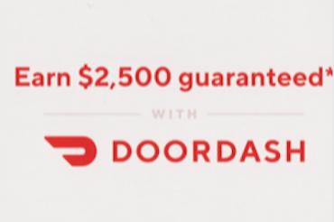 DoorDashが2,500ドルを保証するというが