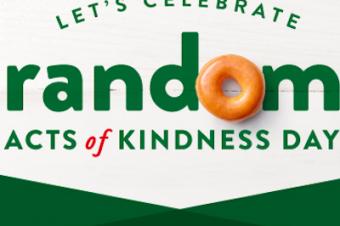 親切の日をドーナツで祝う