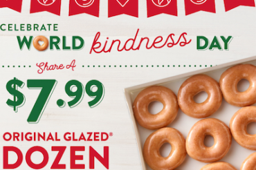 世界親切の日をドーナツで祝う