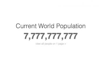 世界の人口が7のゾロ目になった