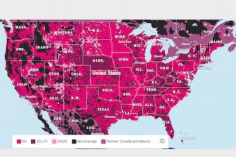 T-Mobileがミッドバンド5Gをさらに拡張