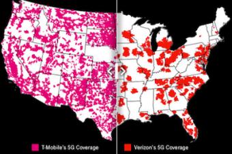 T-Mobileがミッドバンド5Gを2倍に拡張